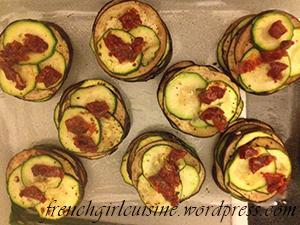 Courgette and Eggplants Mille-Feuille Steps