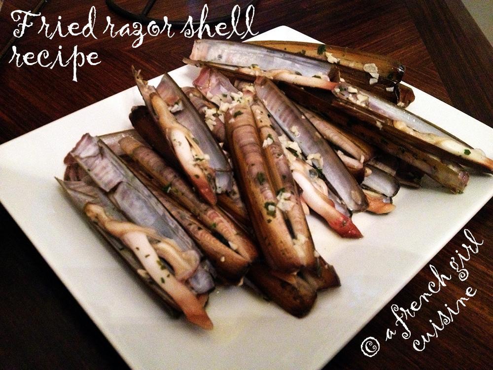 Fried razor shell recipe