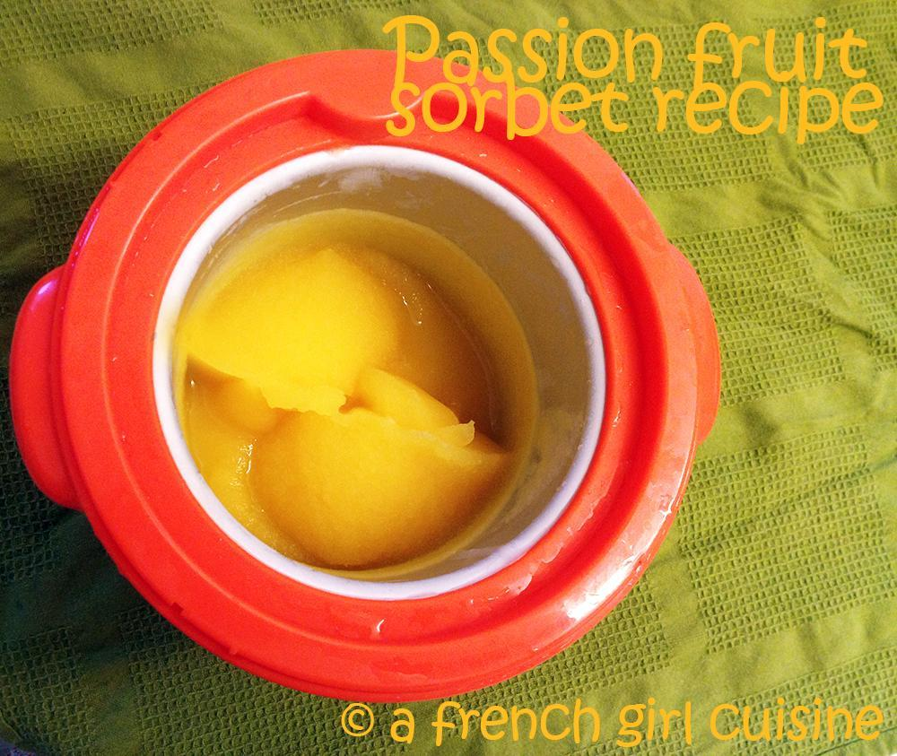 Passion fruit sorbet recipe