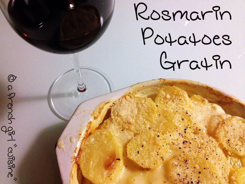 Rosmarin Potatoes Gratin