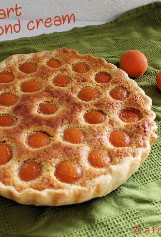 Apricot tart recipe with almond cream
