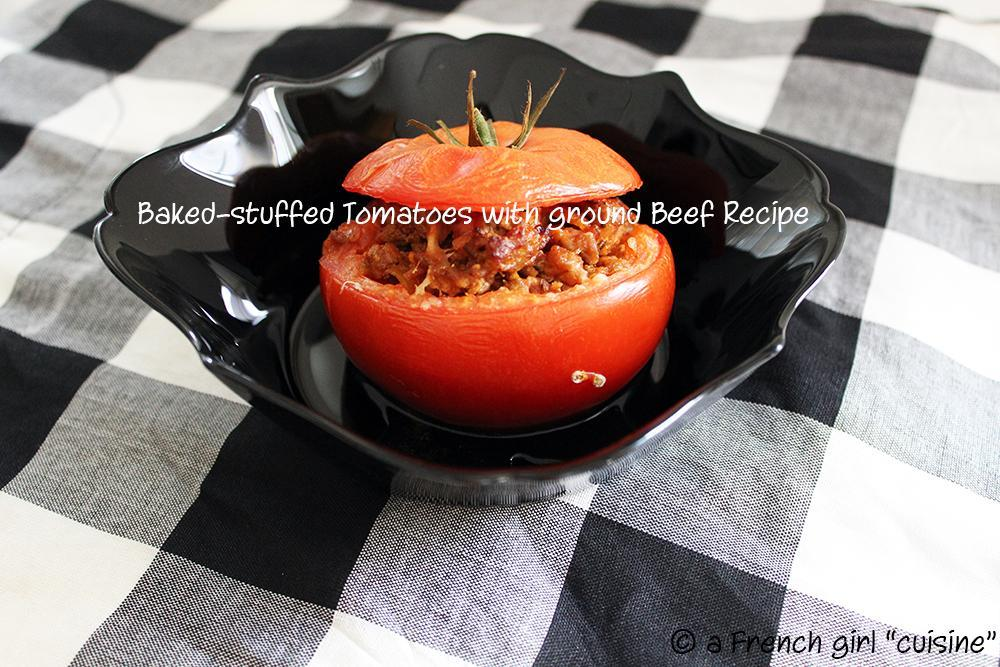 Baked-stuffed Tomatoes with ground Beef