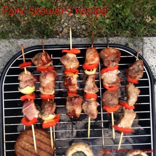 Pork skewer recipe