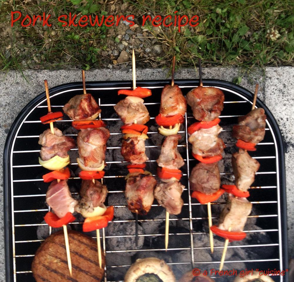 Pork skewers Recipe