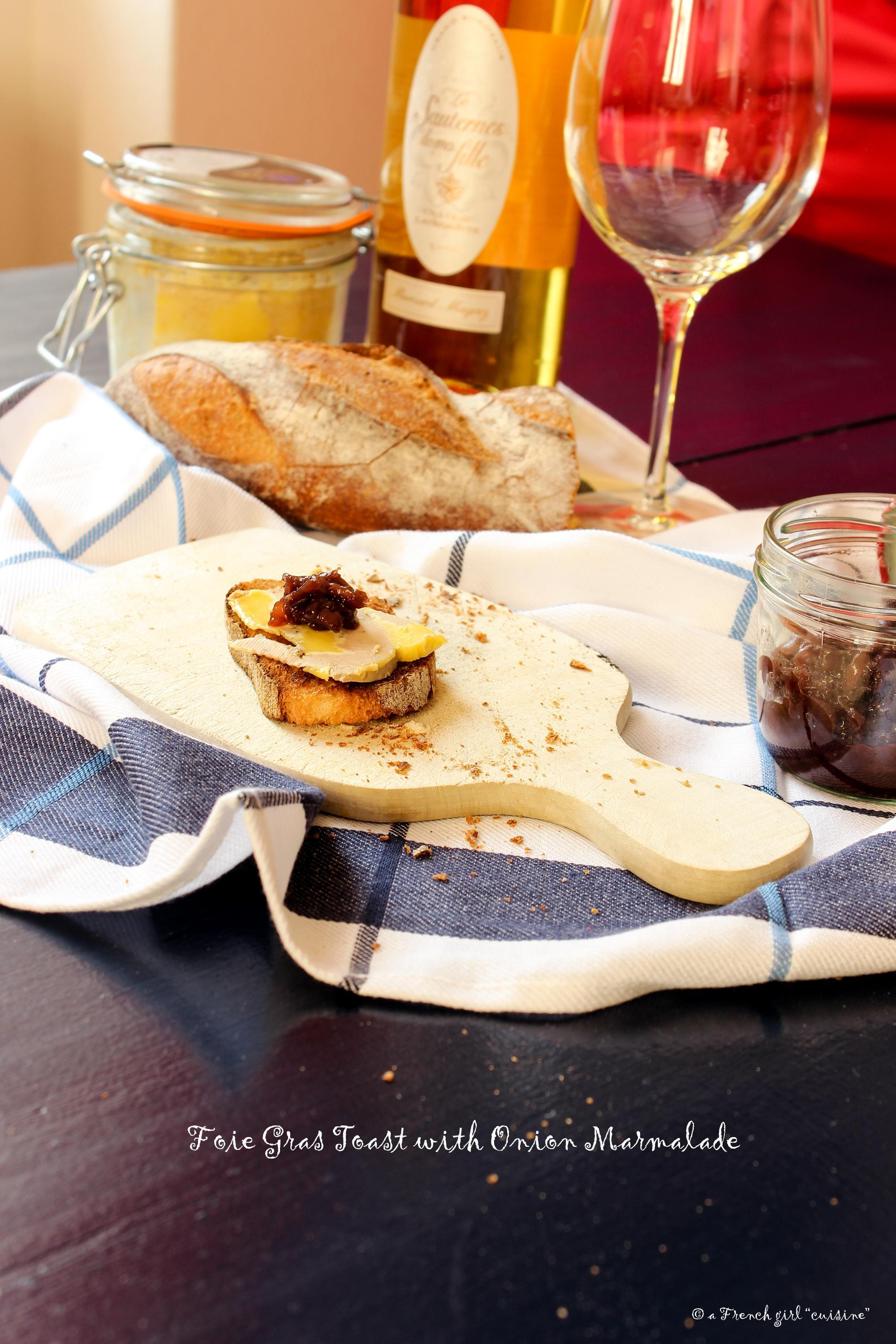 Foie Gras with Onion Marmalade