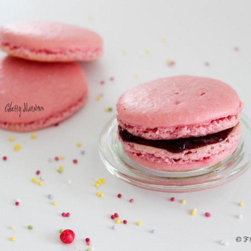 French macaron cherry flavour