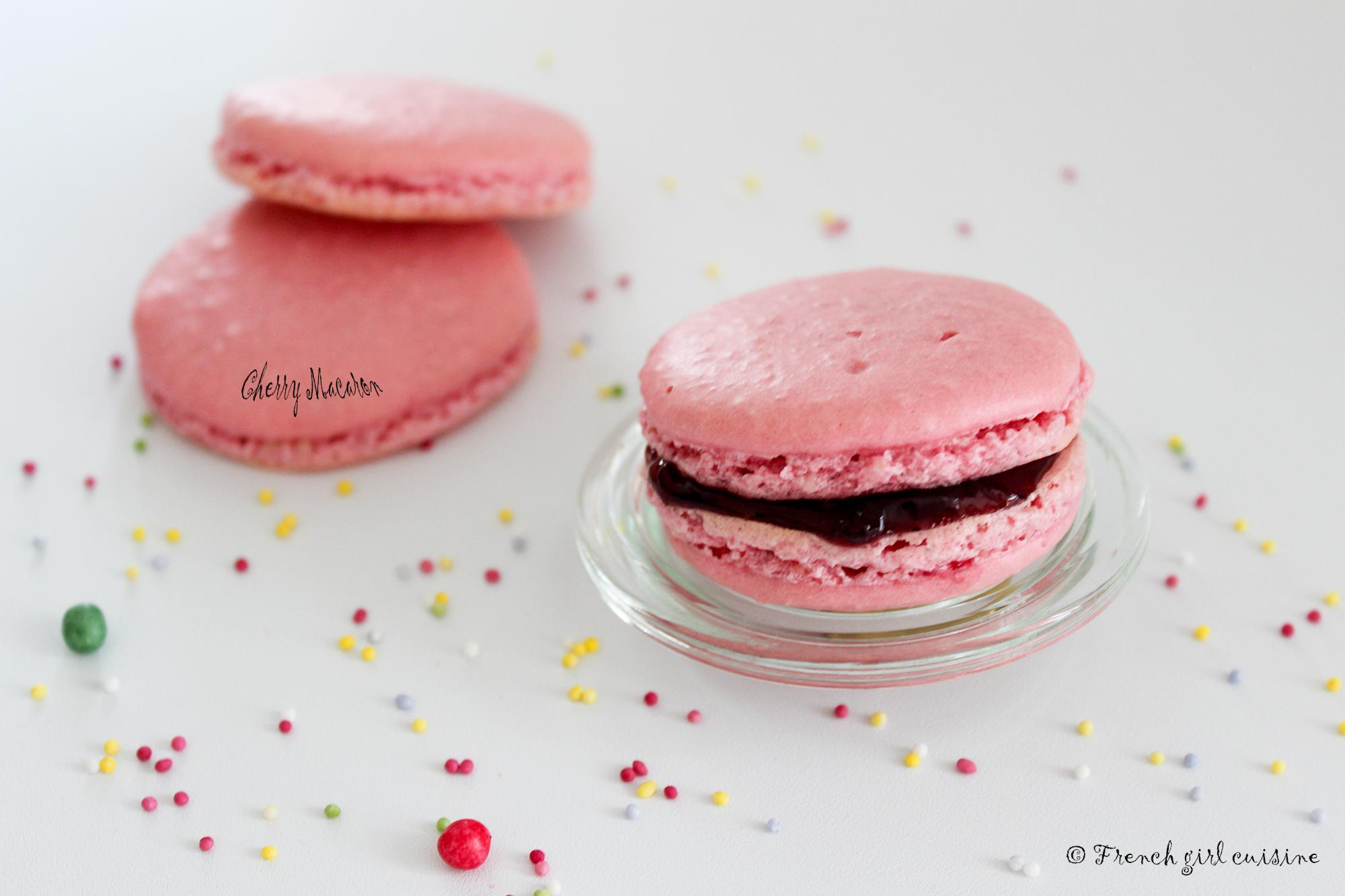 French Cherry Flavoured Macaron
