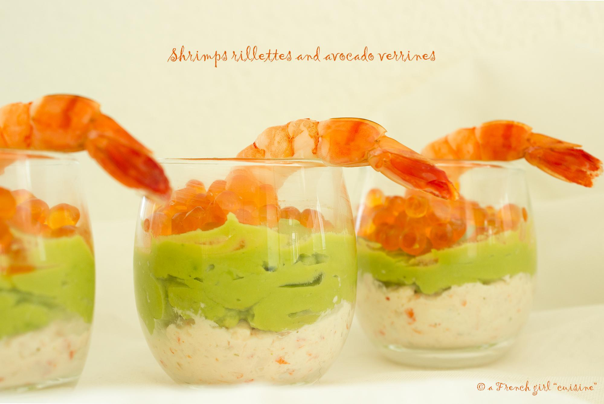 Shrimps Rillettes and Avocado Verrines