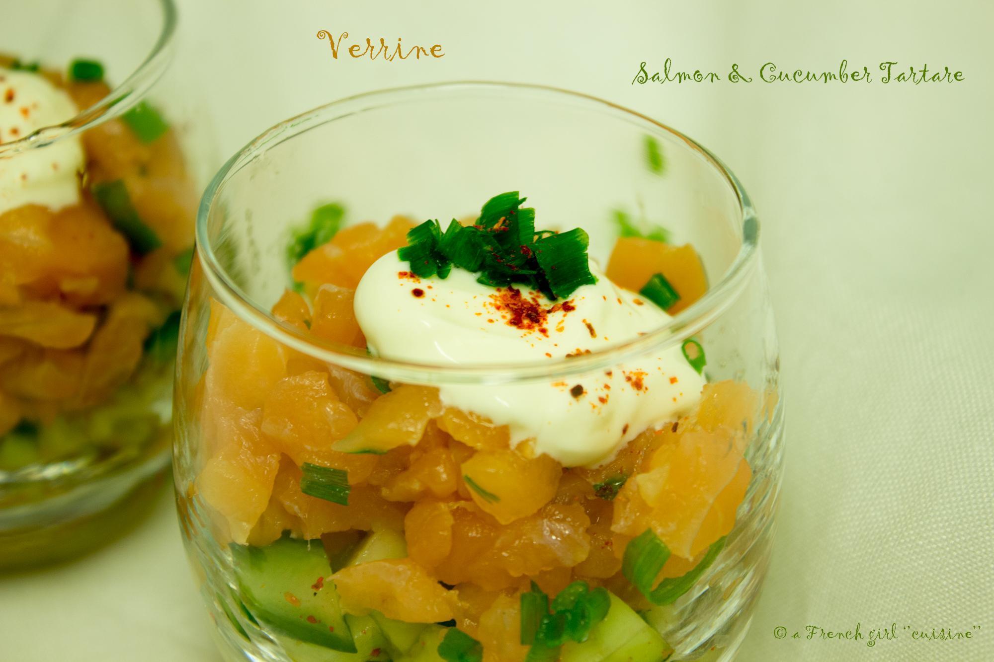 Verrines: Salmon & Cucumber Tartare