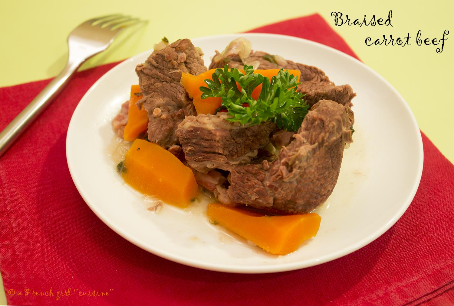 Braised beef carrot