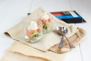 Avocado and smoked salmon verrines