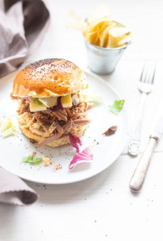 Pulled pork burger ou burger de porc effiloché