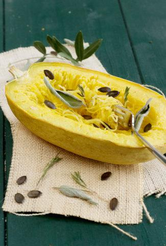 Spaghetti squash in the oven, quick and easy
