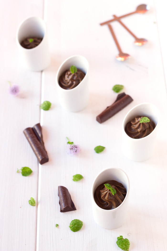 Avocado chocolate mousse verrine {vegan}