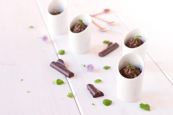 Avocado chocolate mousse verrine {vegan}
