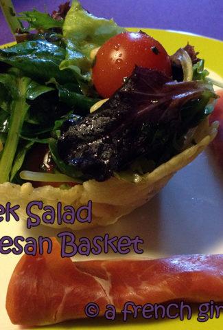 Beer leek Salad in Parmesan Basket