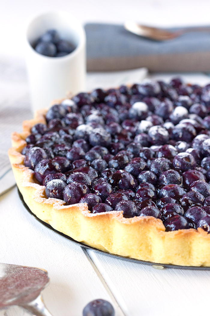 Blueberry and Almond Tart Recipe