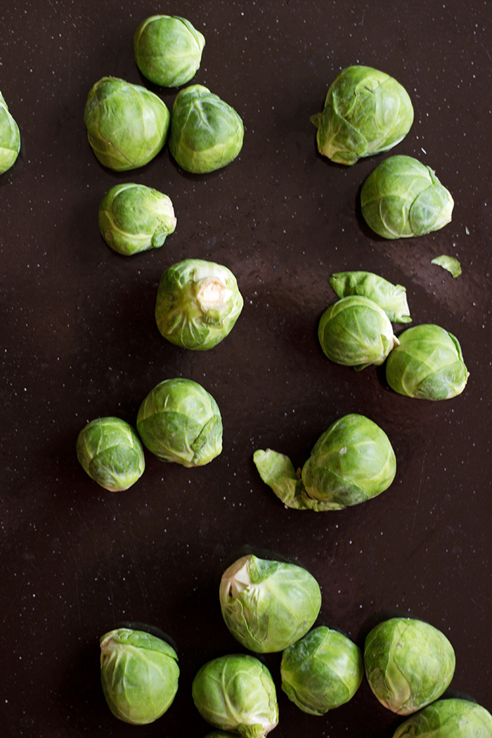 Brussels sprouts with cream and bacon
