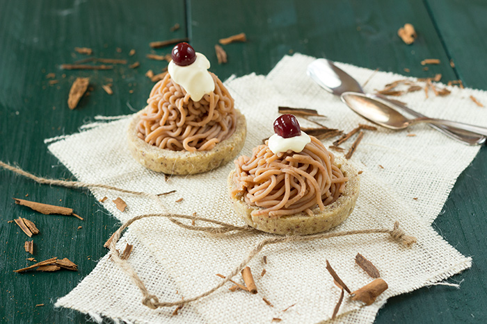 Chestnut tartlets vermicelli recipe