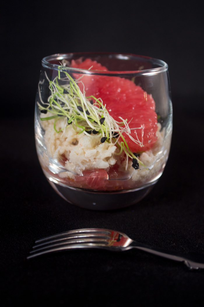 Crab & grapefruit verrines
