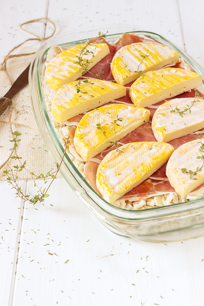 Croziflette, french baked pasta with bacon and reblochon