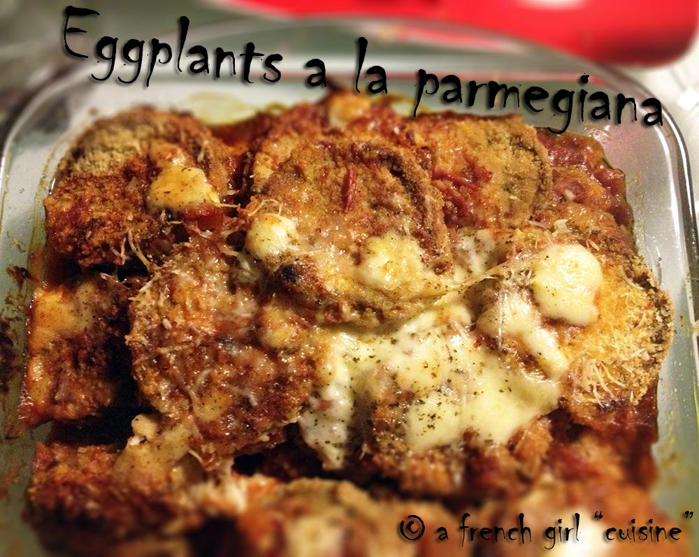 Eggplants a la parmegiana!