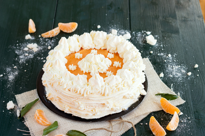 Frozen mandarin vacherin recipe