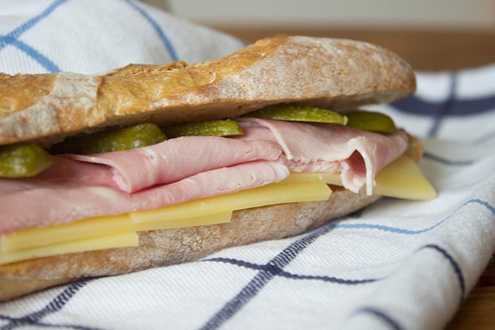Ham & cheese French sandwich