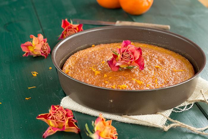 Mandarin and orange blossom cake