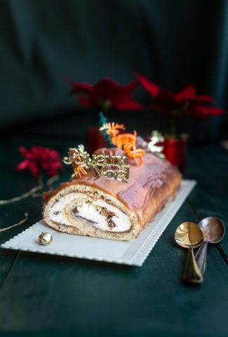 Mascarpone & chestnut log recipe (christmas)