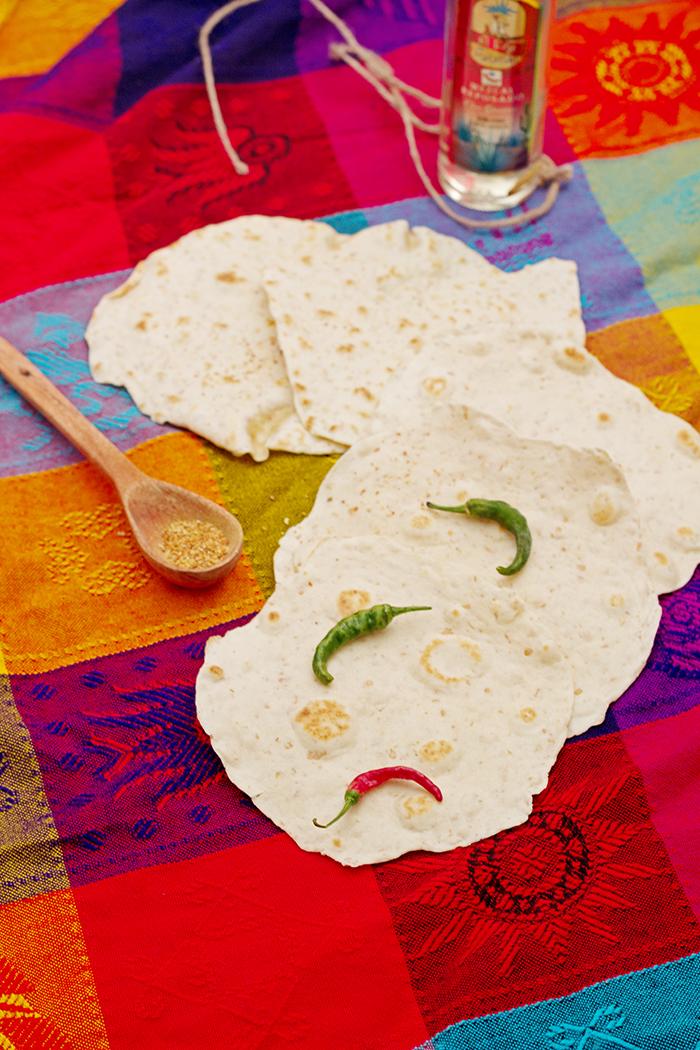 Mexican tortillas with spelt flour