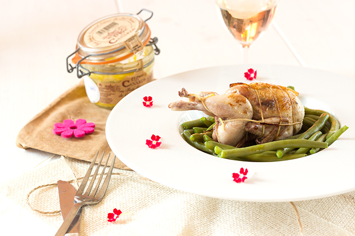 Quail Stuffed with Foie Gras Recipe