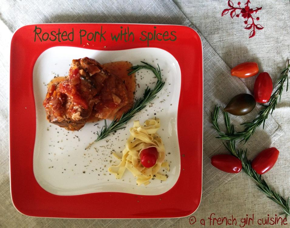 Roasted pork with spices