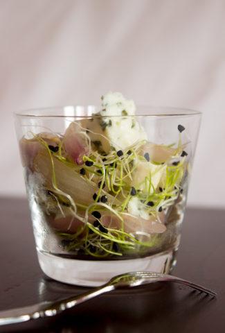 Roquefort & caramelized shallots verrine recipe