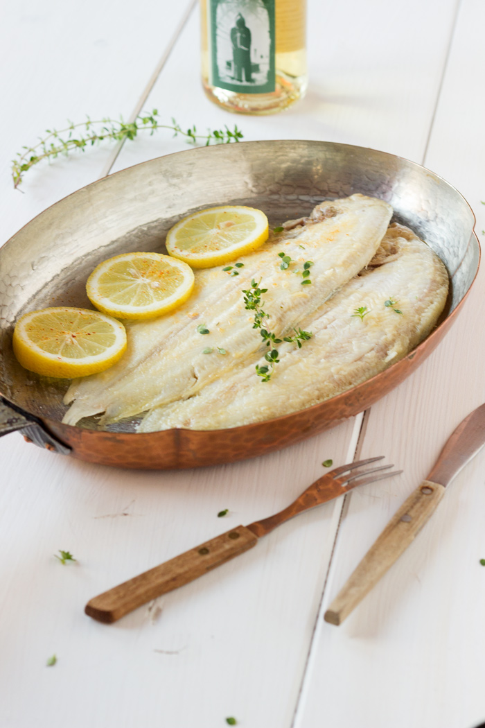 Sole meuniere recipe with lemon thyme