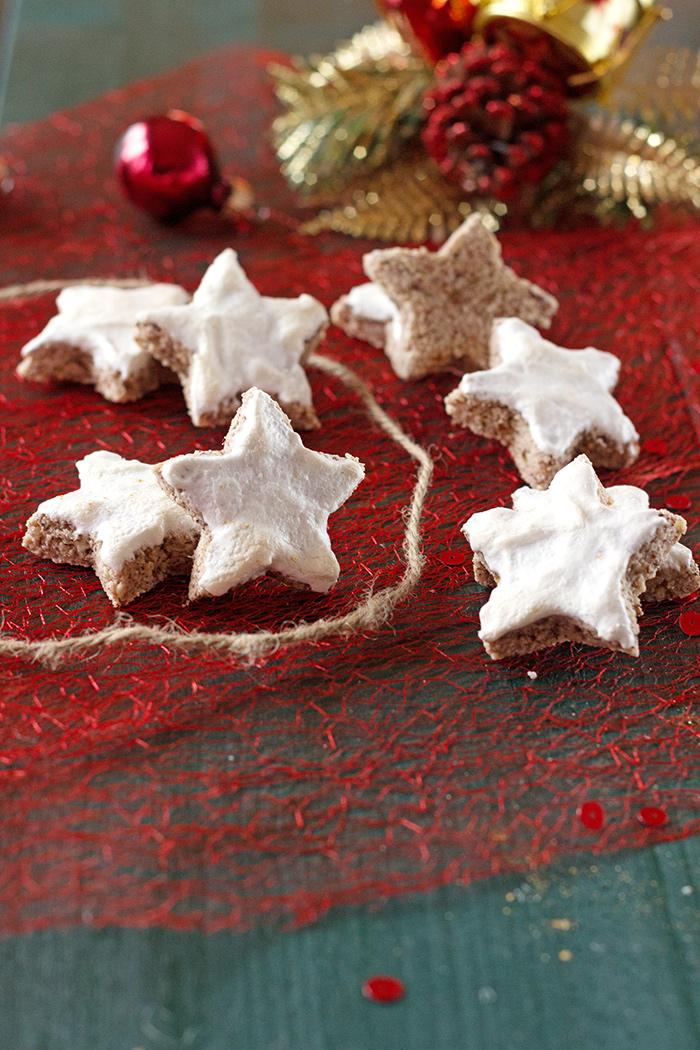 Zimtsterne, cinnamon stars, Christmas cookies